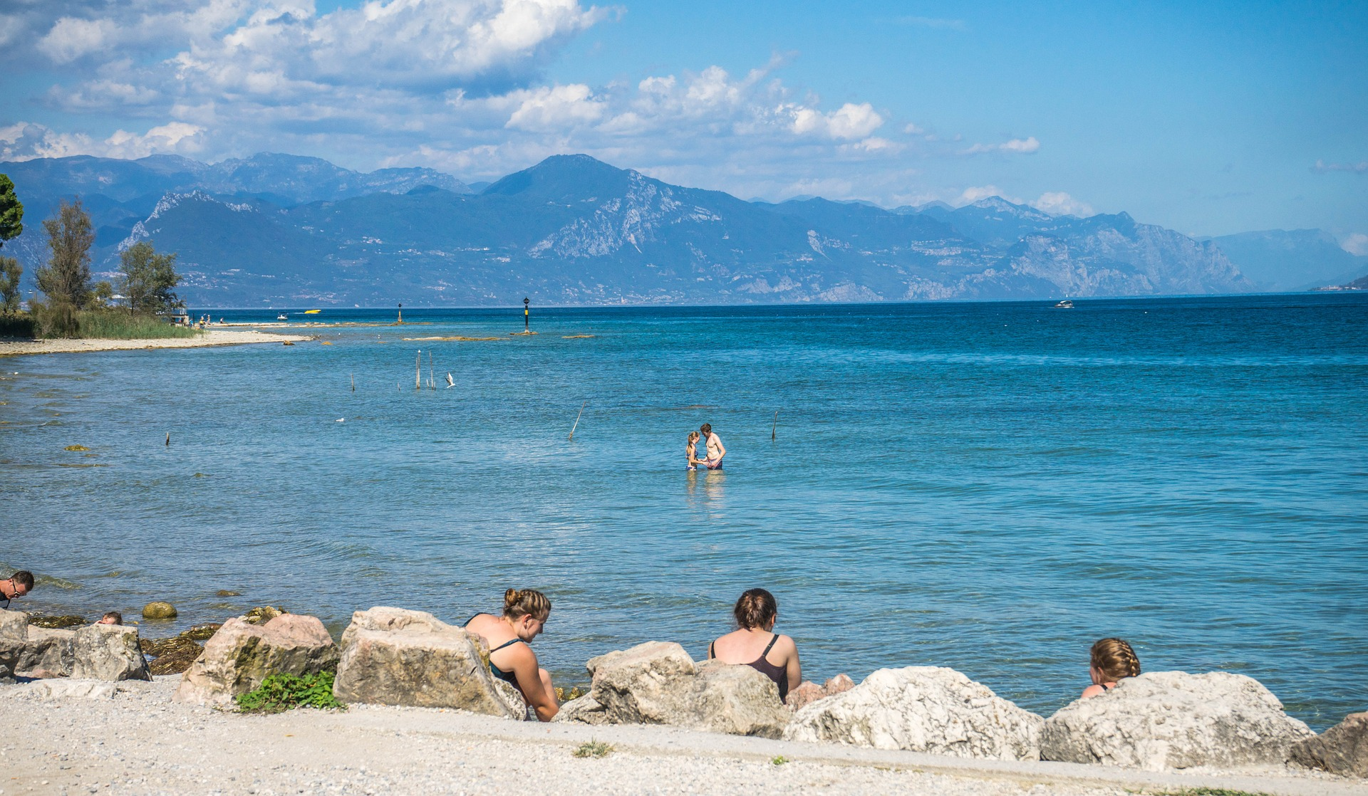 Beaches And Sun In Lake Garda