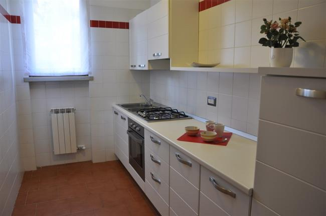 kitchen with fridge and oven