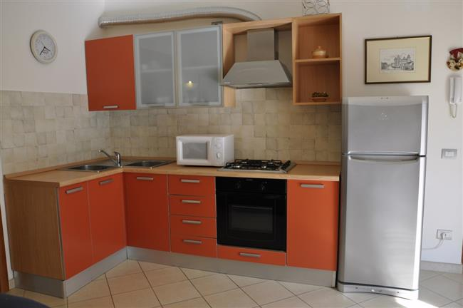 Cooking nook with fridge and oven