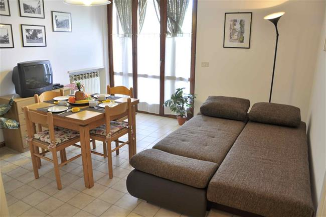 Living-kitchen with sofabed