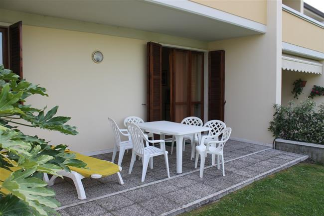terrace with garden forniture